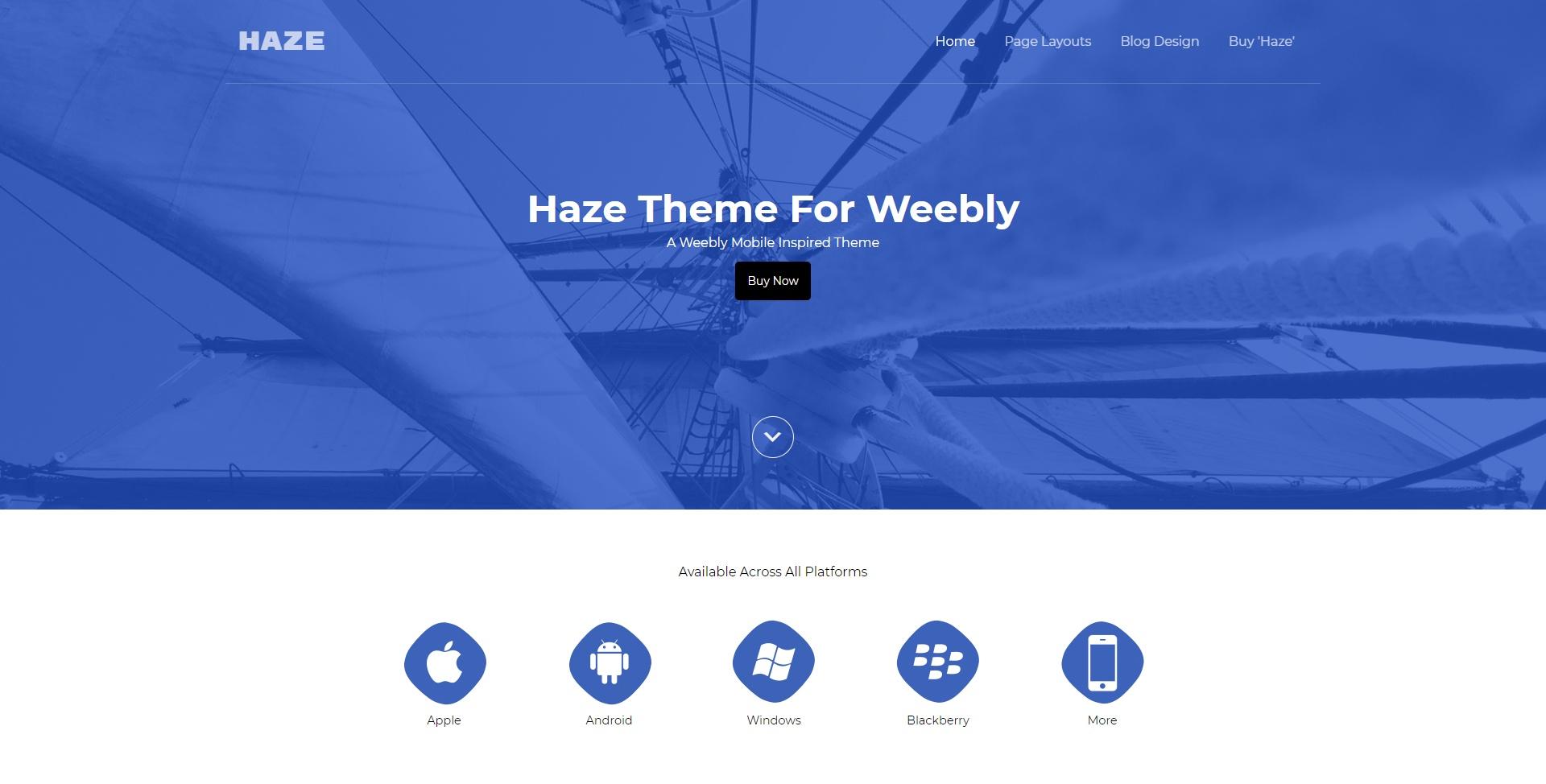 Haze (Weebly Theme)