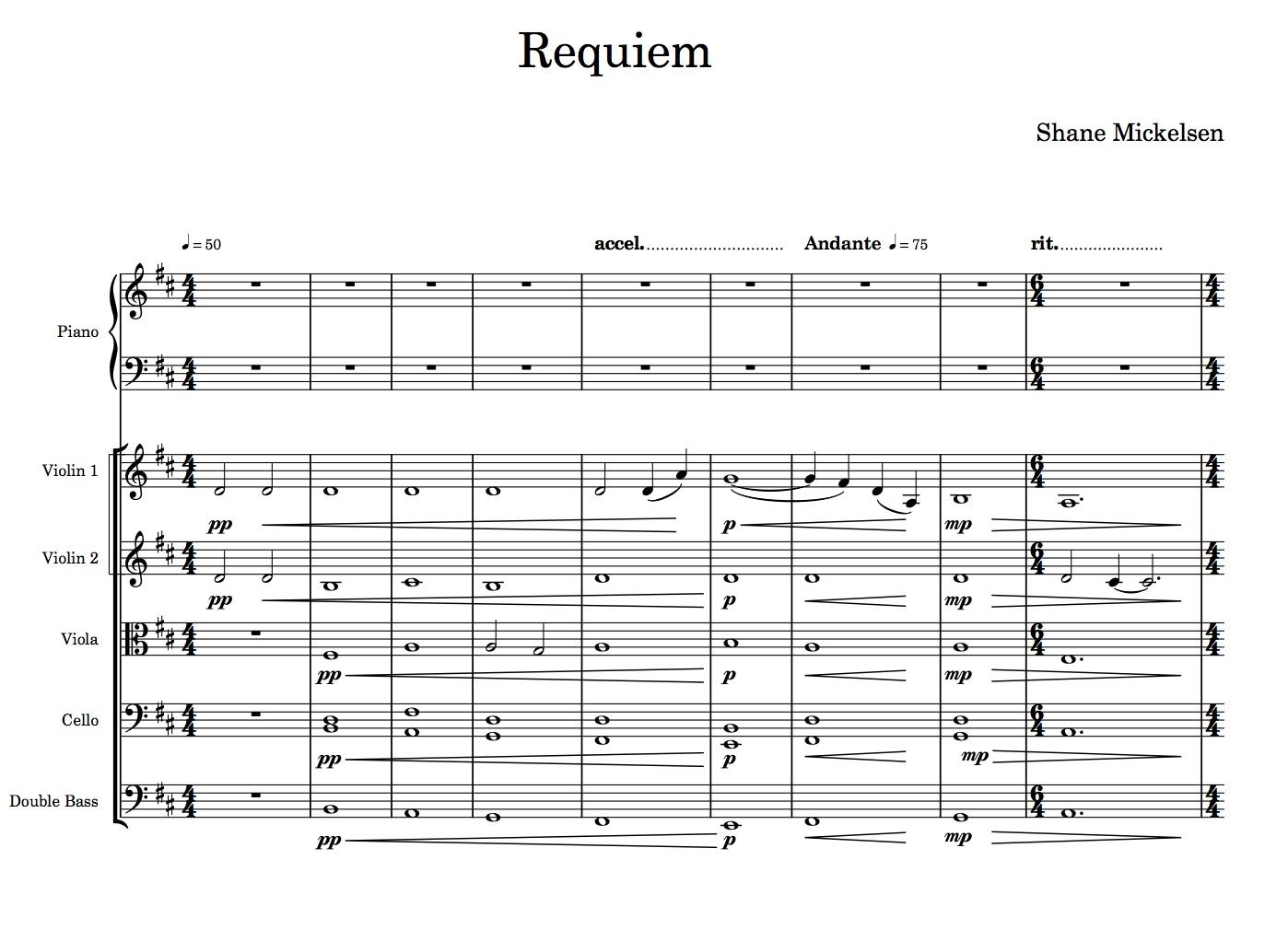 Requiem III. Finale - Score and Parts