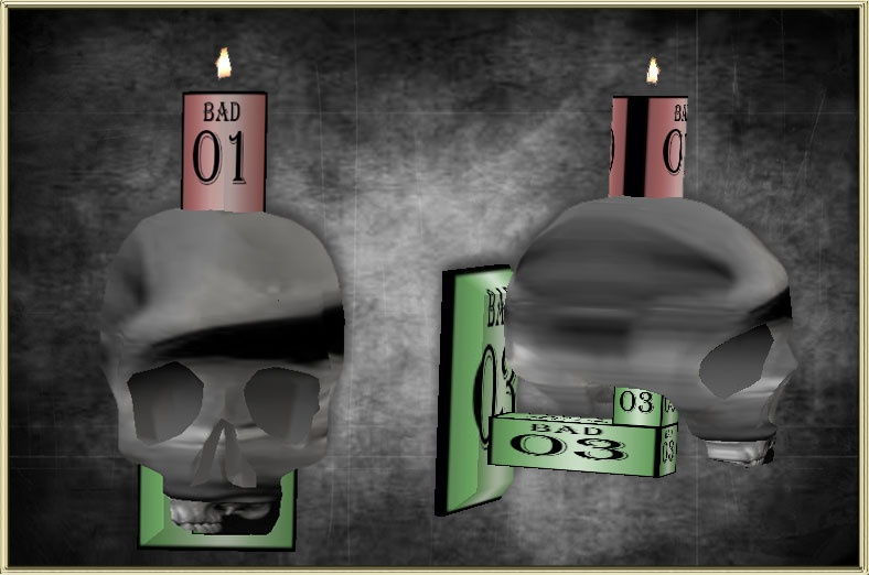 SKULL CANDLE SCONCE MESH