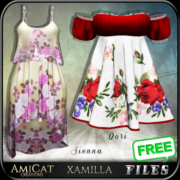 AmiCat IMVU FREE Sienna, Dori (for xamilla meshes only)