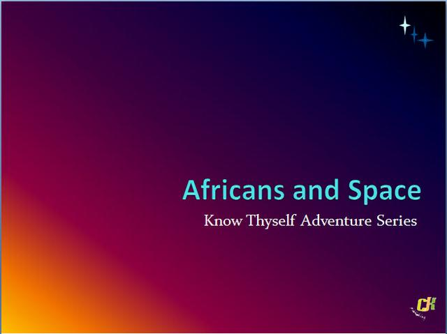 Africans and Space