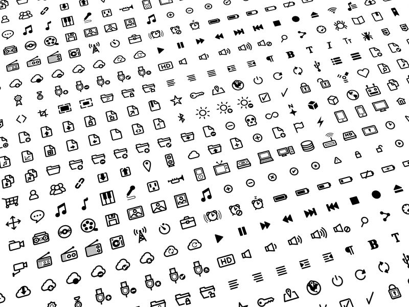 Deluxe Icon Set (500 Icons)