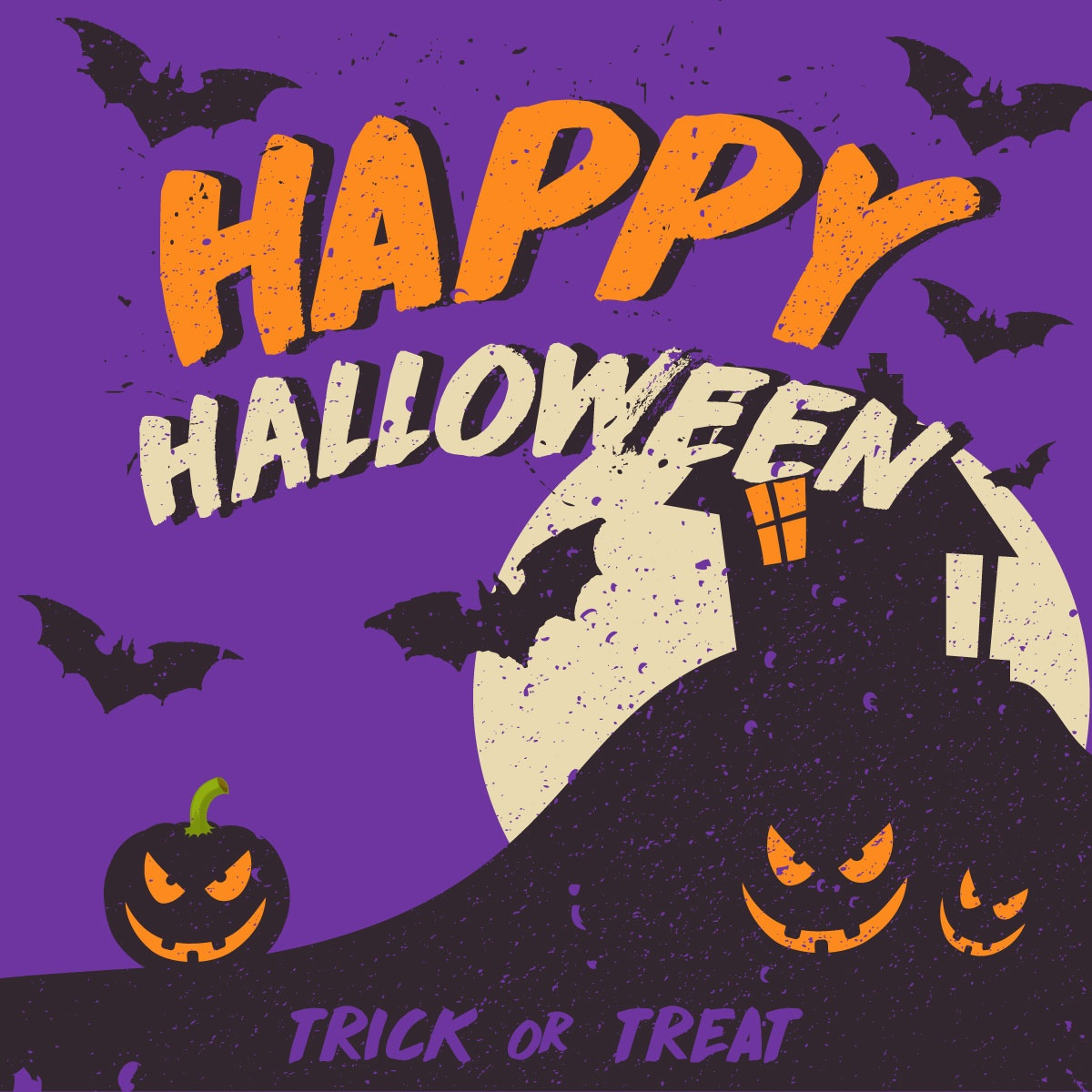 Creepy Halloween Vector Illustration