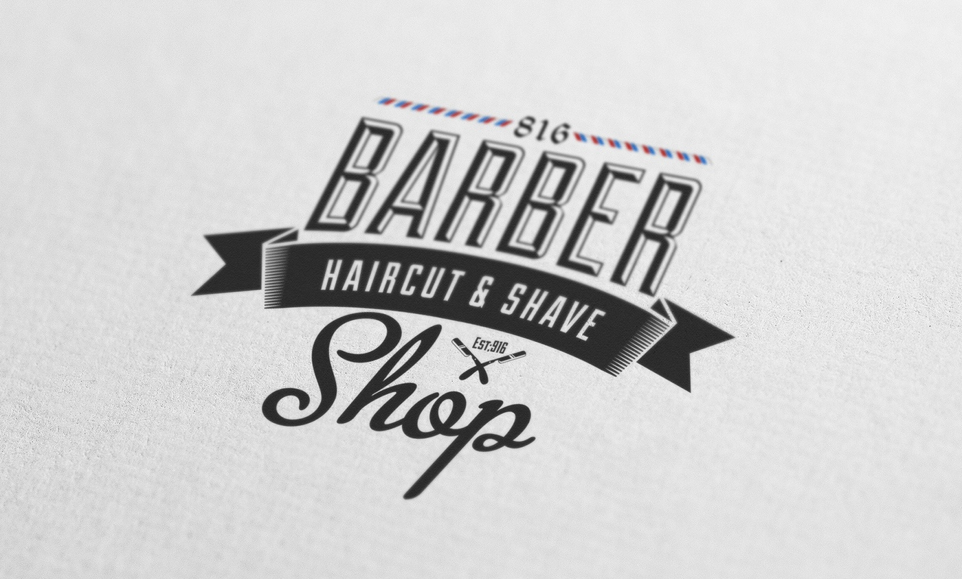 Barber Shop Vintage Label
