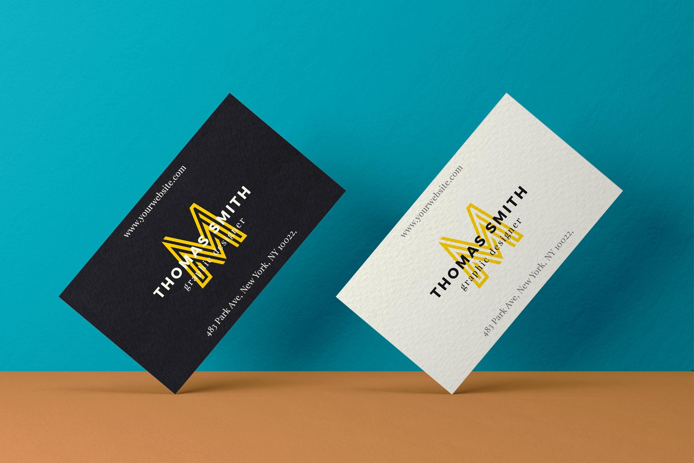 Realistic Business Card Mock-Up #02   eightonesix.net - Sellfy.com