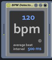 Real-Time Midi BPM Detector