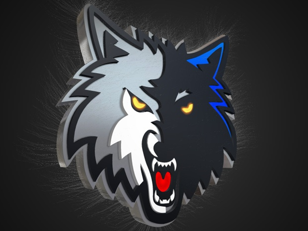 Blufftitler Template : 3D Logo Wolves