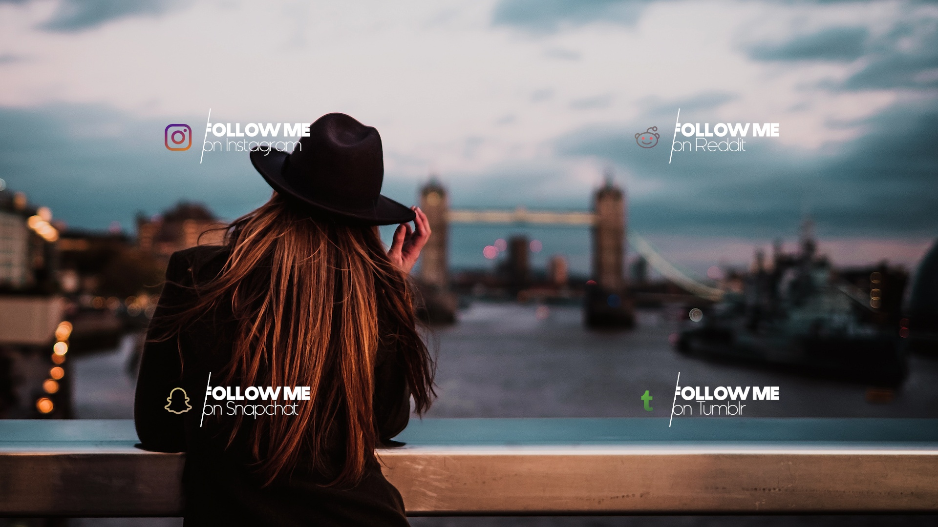 Modern FREE Social Media Lower Thirds - After Effects Template