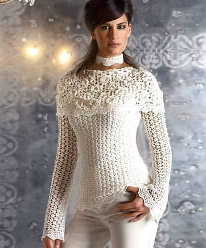 Jacket with a collar-pelerine crochet diagrams pattern pdf