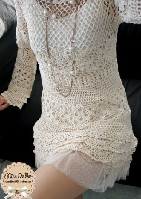 crochet dress chart pattern diagrams
