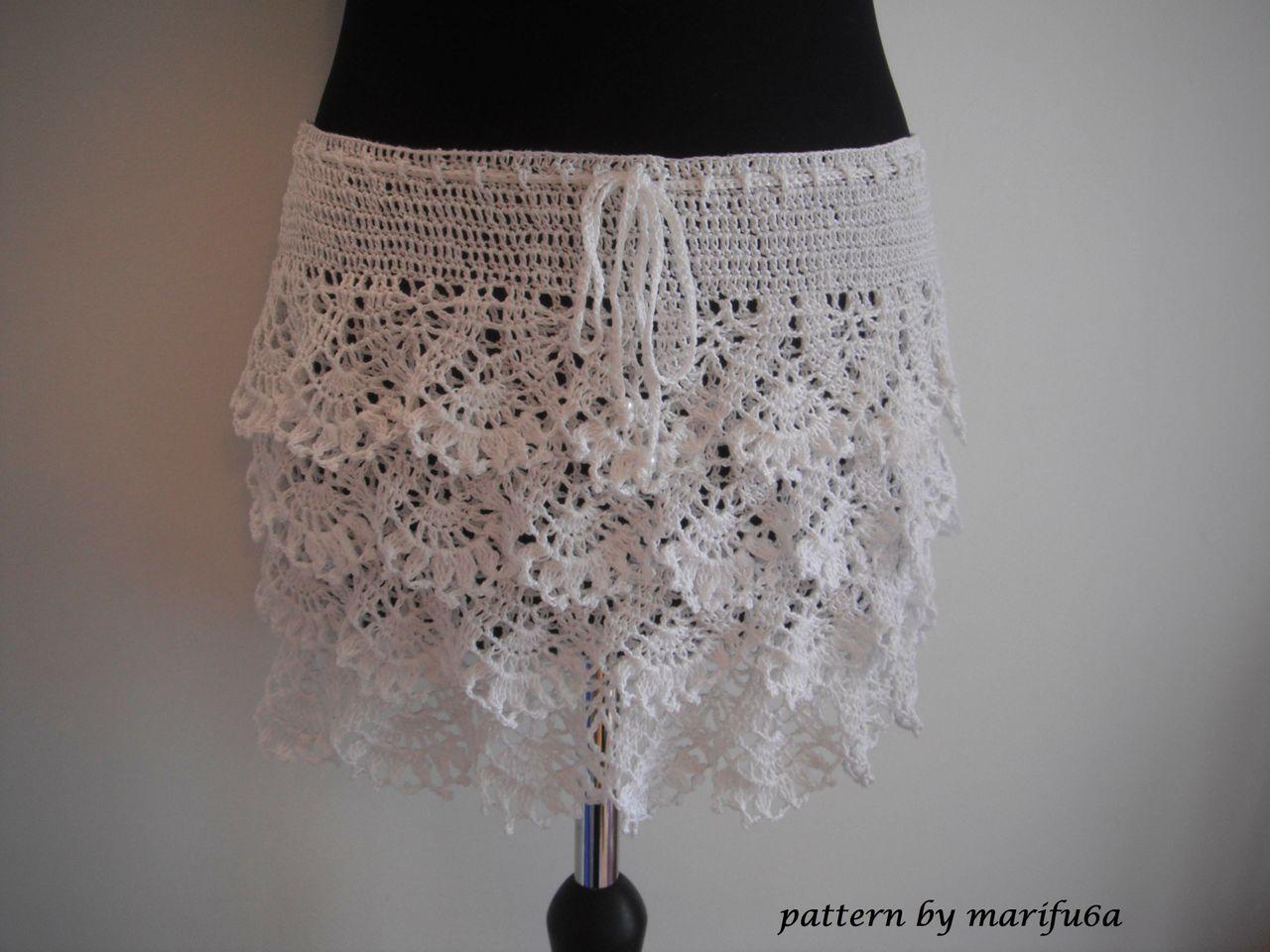 crochet ruffle skirt pattern pdf nr 48