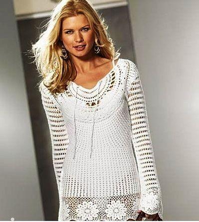 crochet tunic dress pattern diagrams pdf