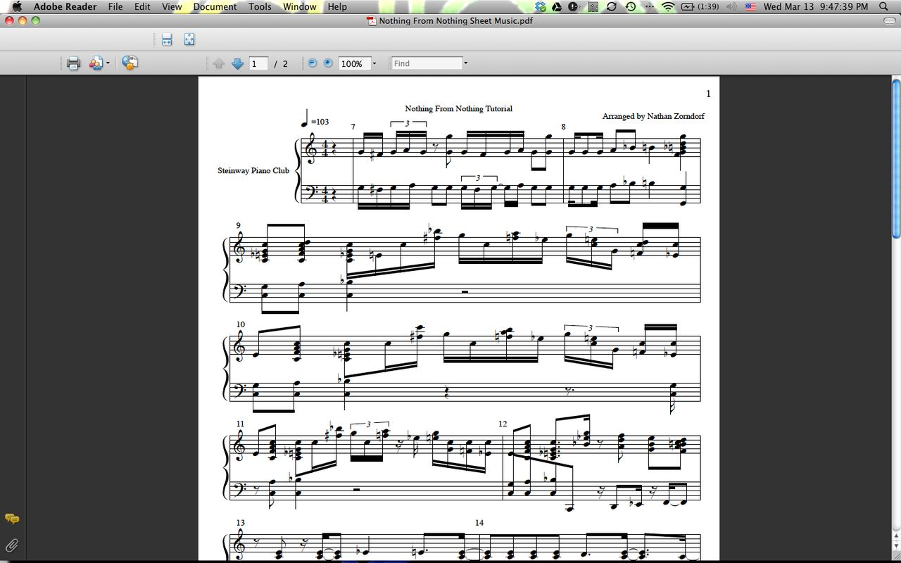 Funkpianoacademy sellfy style of nothing from nothing transcription sheet music hexwebz Gallery