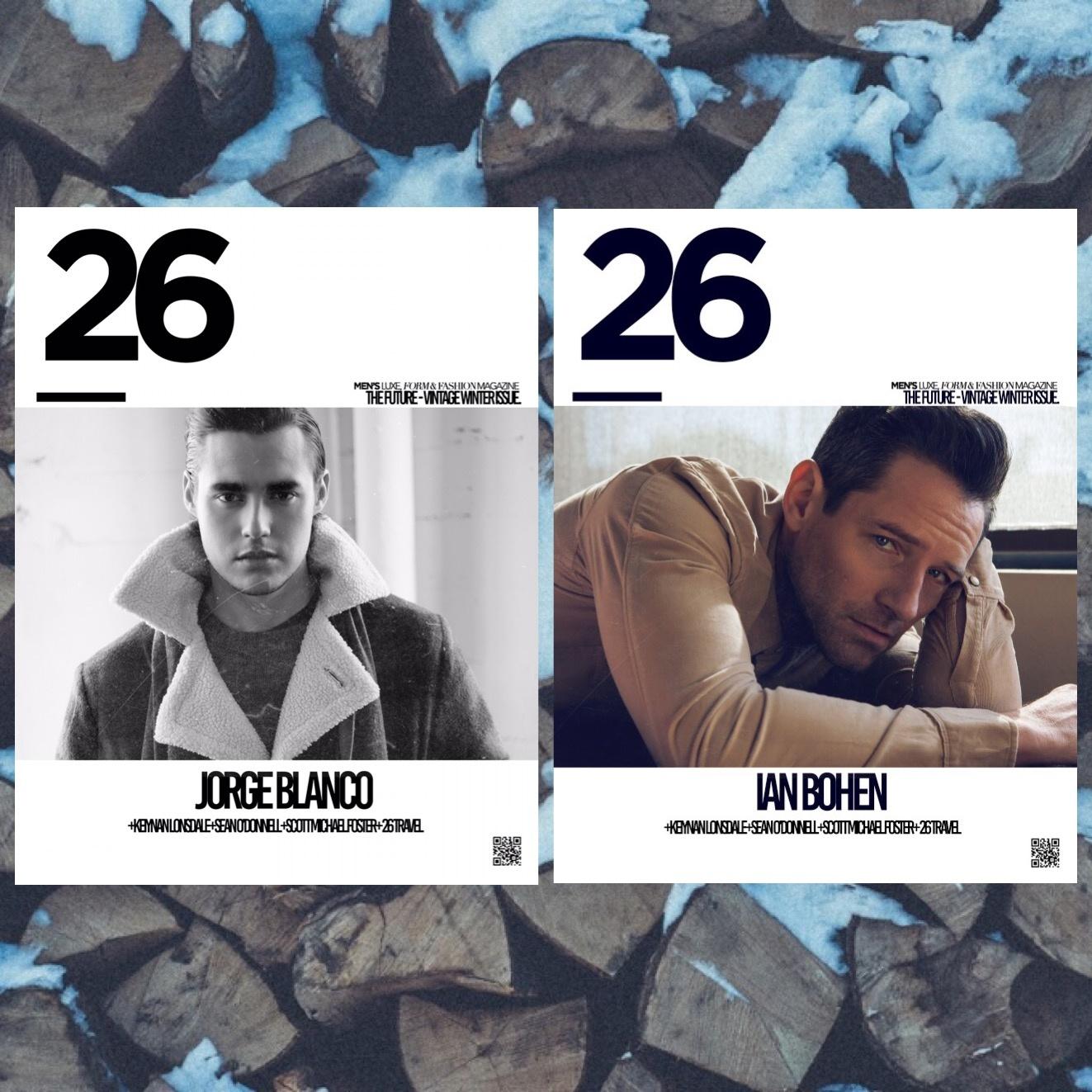 "26 Magazine Jorge Blanco, Ian Bohen ""Future-Vintage"" Winter Issue"