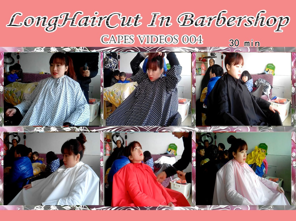 Cape- Beautiful girl with capes in the barbershop