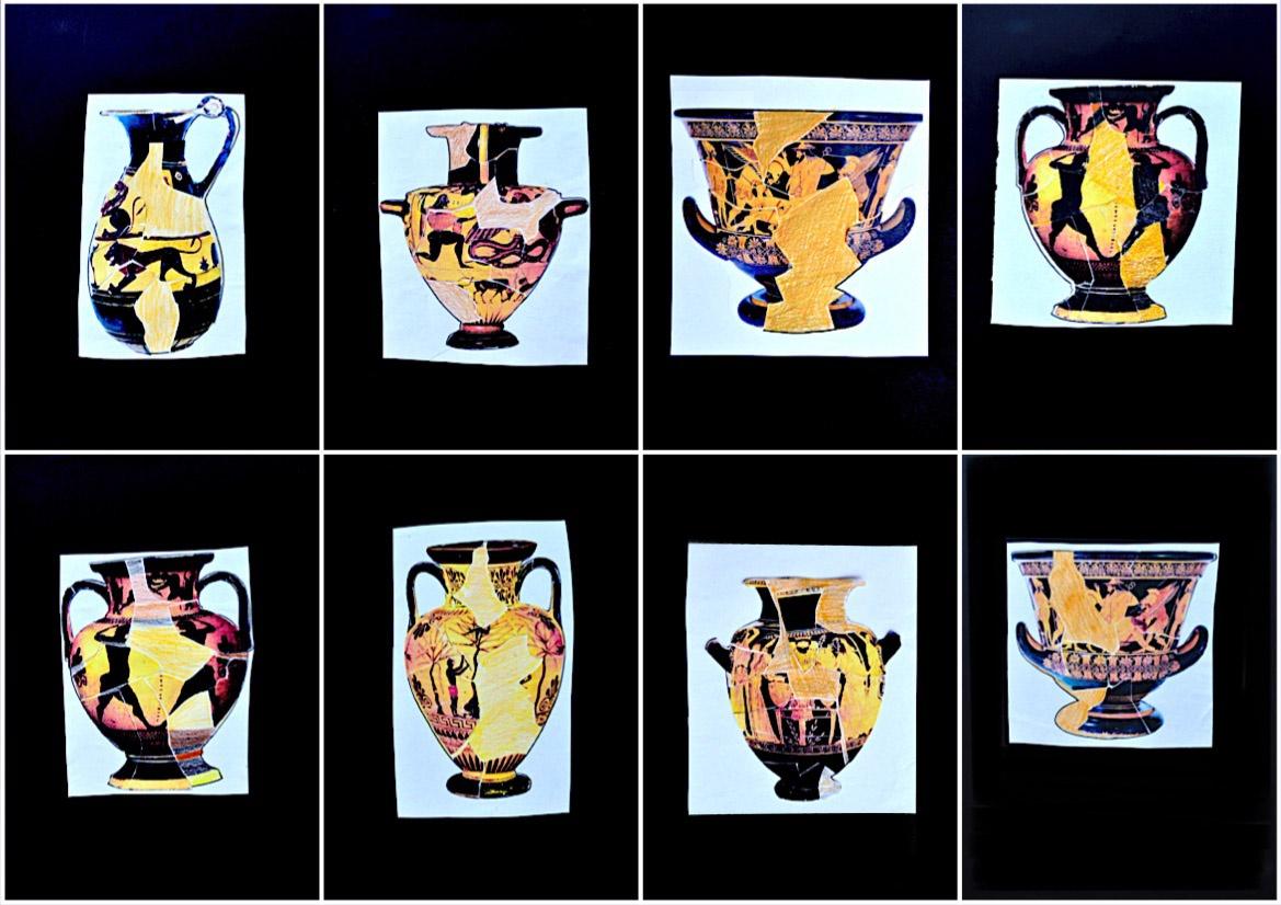 Restore ancient Greek vases. 6 worksheets