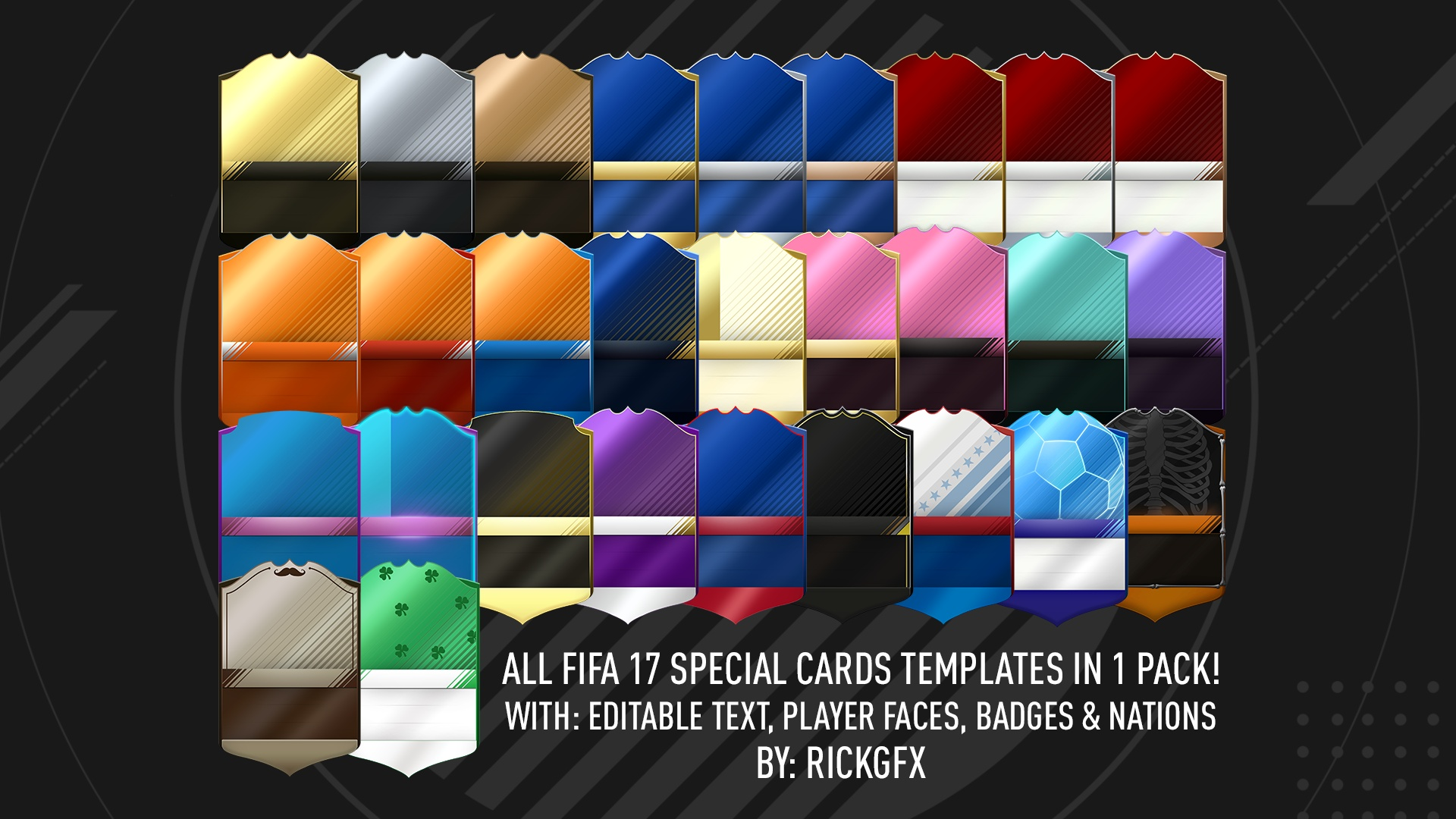 FIFA 17 ALL SPECIAL CARDS TEMPLATES!