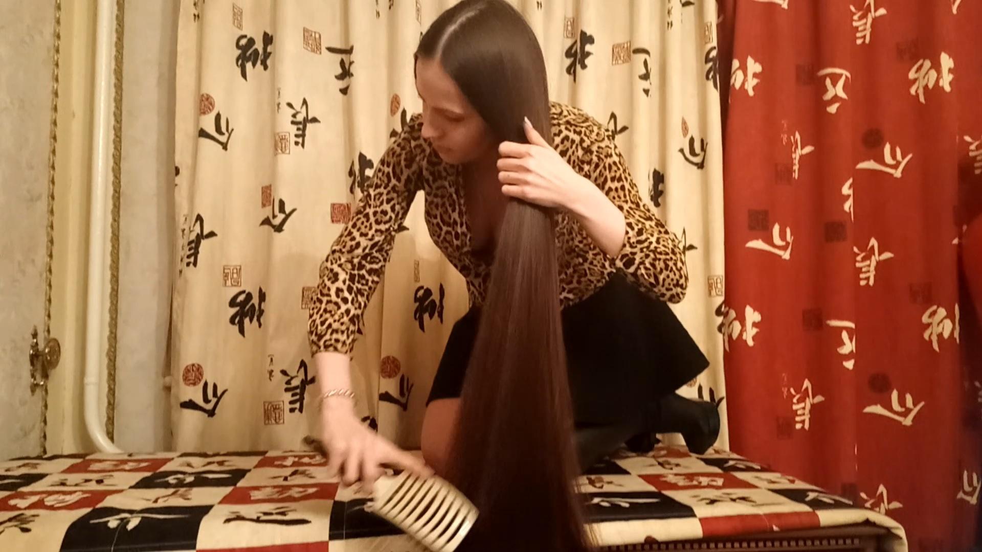 Hair Brushing, Playing & Braiding on Table Part. 2