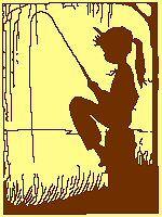 Girl Fishing Silhouette