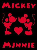 Mickey Heart Minnie