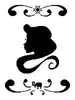 Head Silhouette - Rapunzel