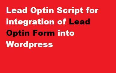 Lead Optin Form Script