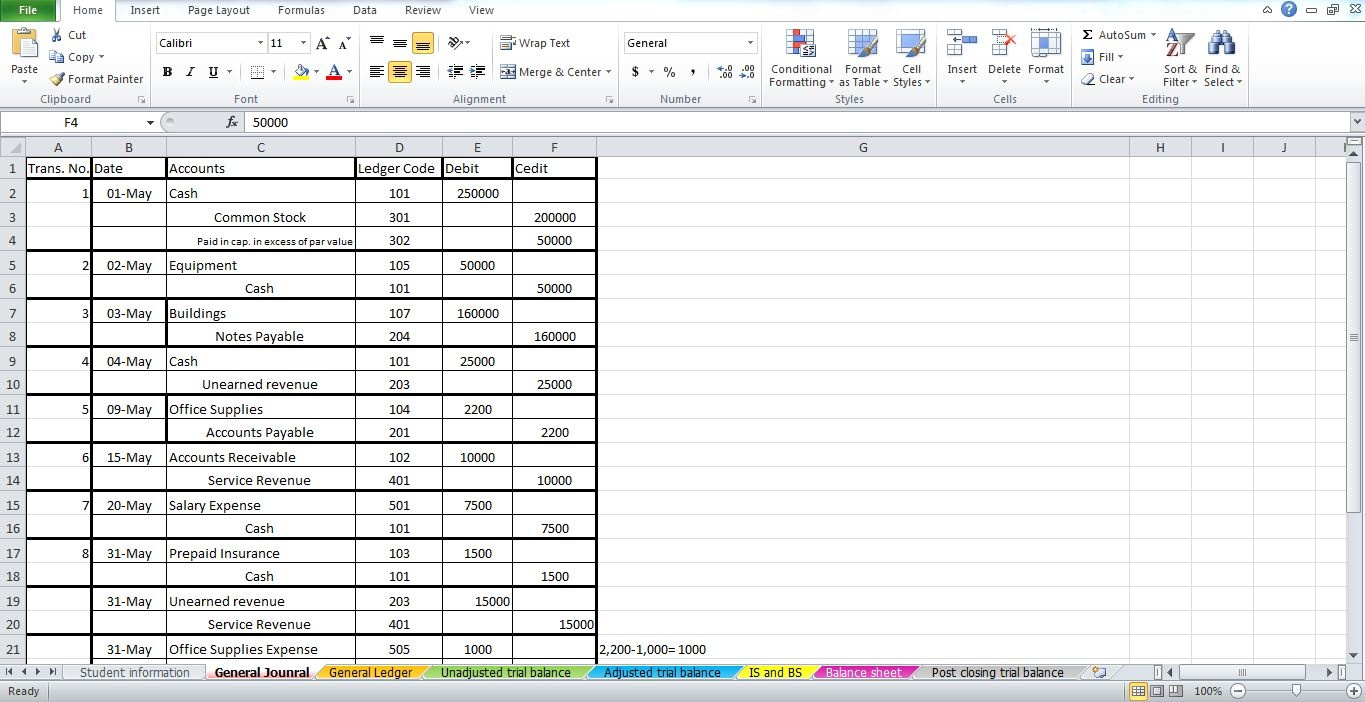 EXCEL Assignment number 1 KC Inc