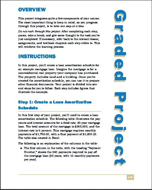 Graded Project page 129- 137 on Study Guide Corporate Finance