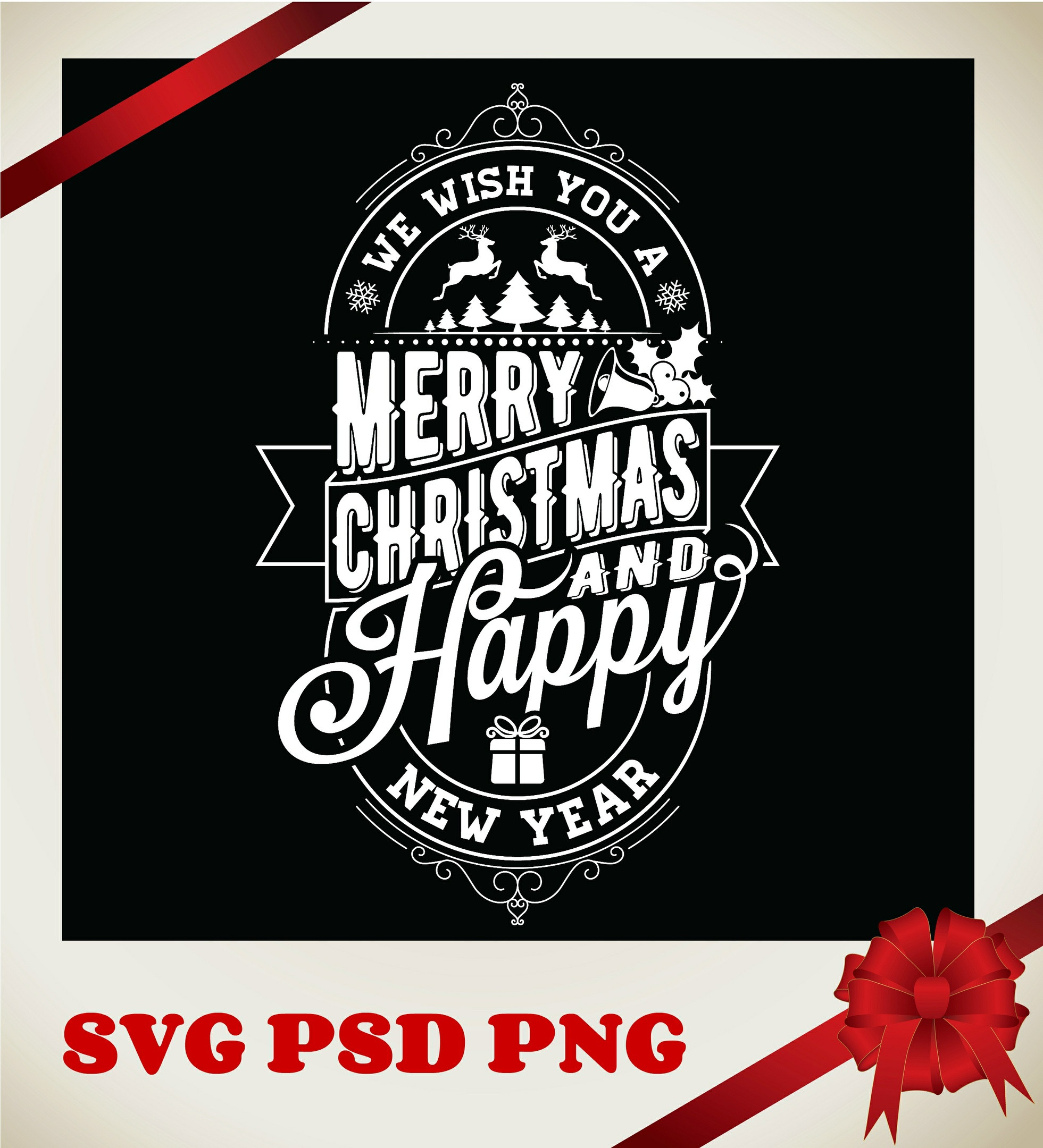 We Wish You A Merry Christmas SVG,PSD,PNG