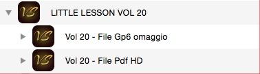 LITTLE LESSON VOL 20 - Format Pdf (in omaggio file Gp6)