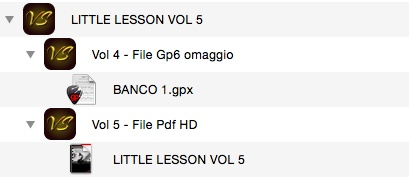 LITTLE LESSON VOL 5 - Format Pdf (in omaggio file Gp6)