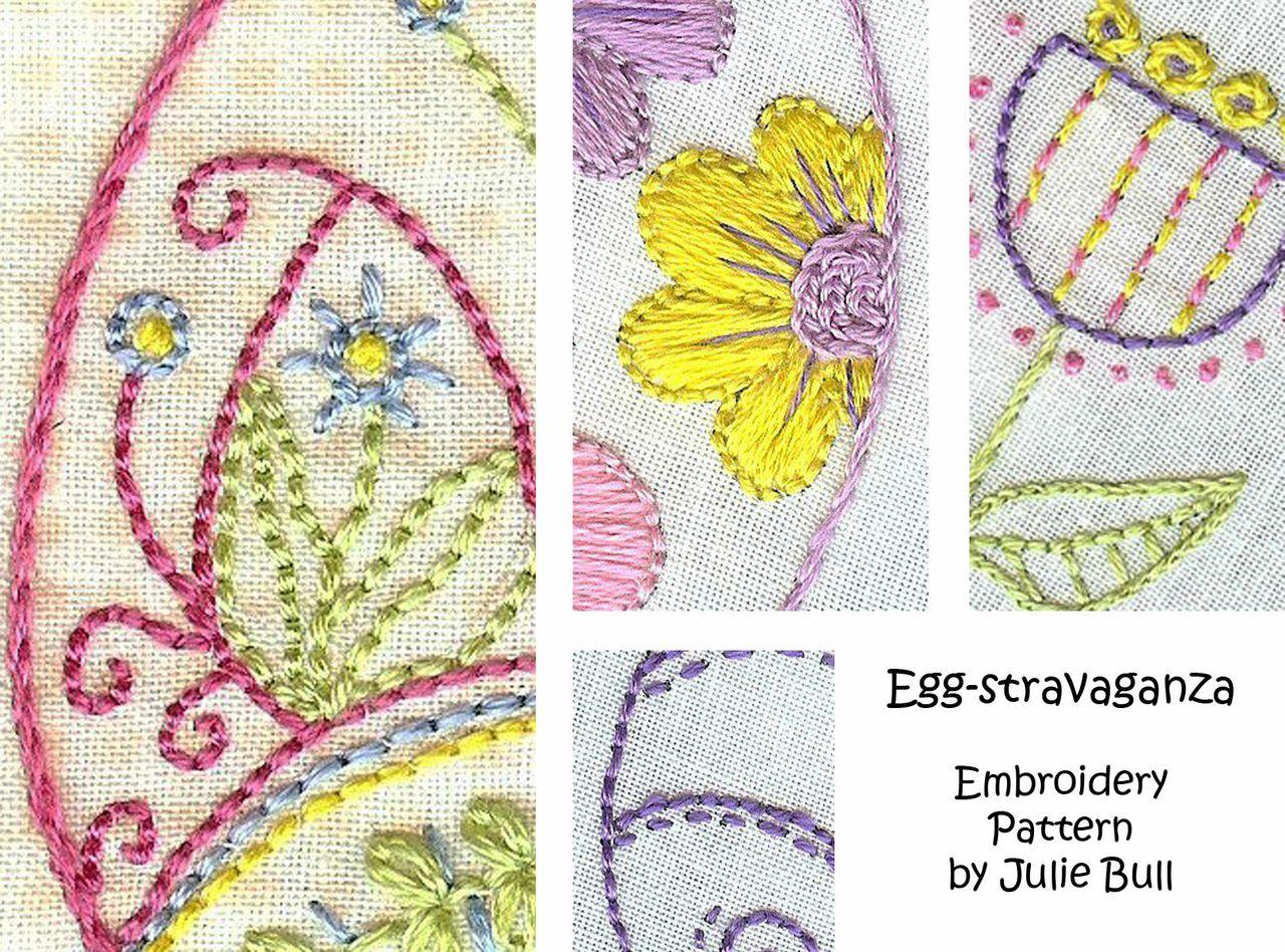 Eggstravaganza Hand Embroidery Pattern
