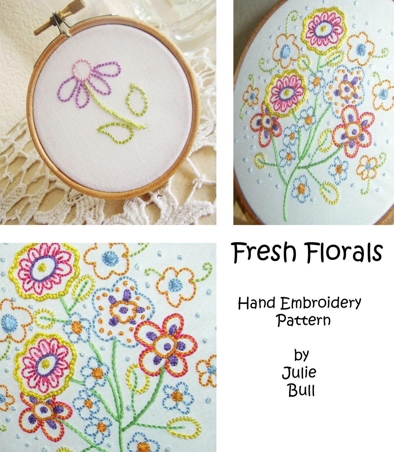 Fresh Florals Embroidery Pattern