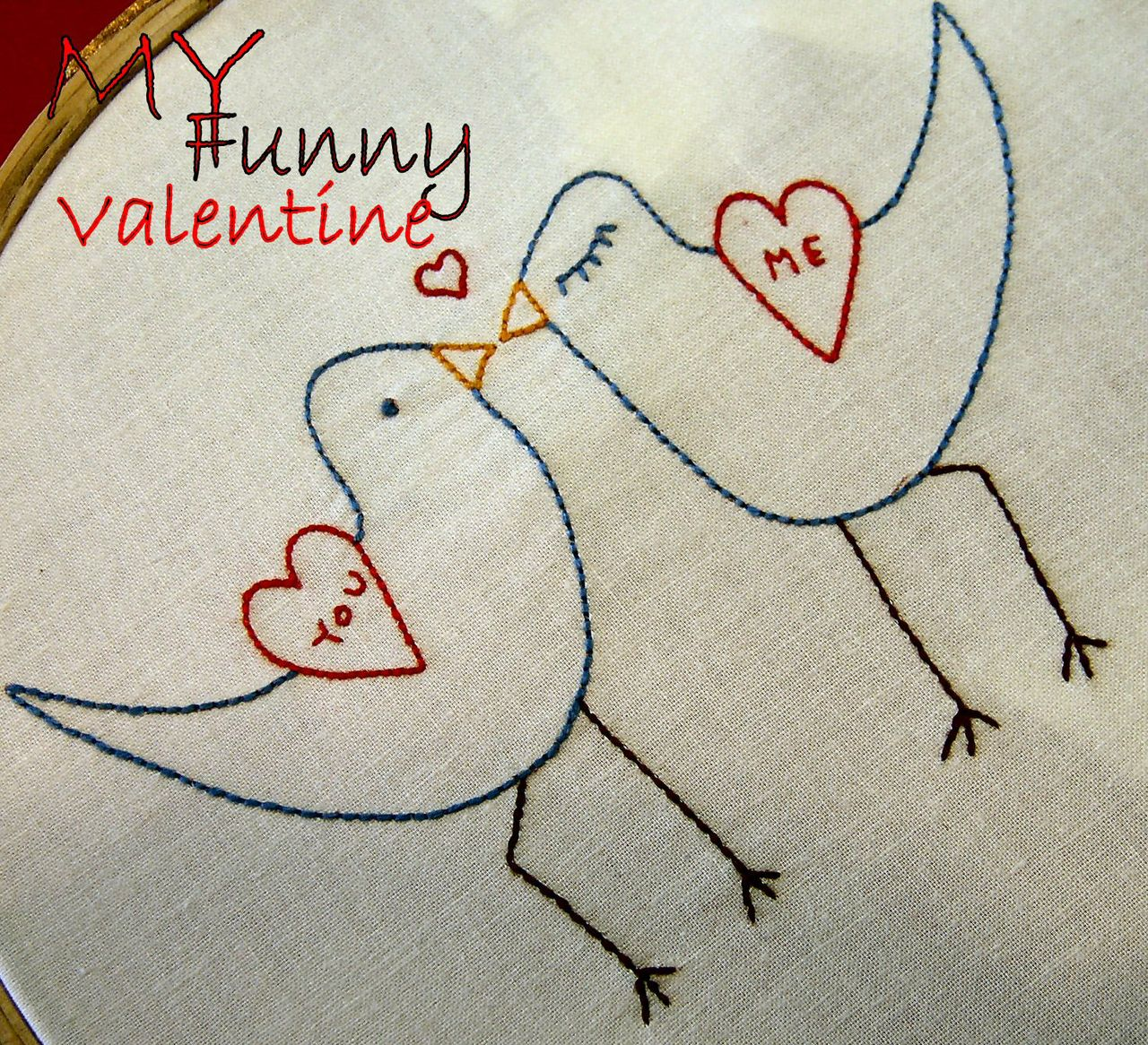 My Funny Valentine  Hand Embroidery Pattern