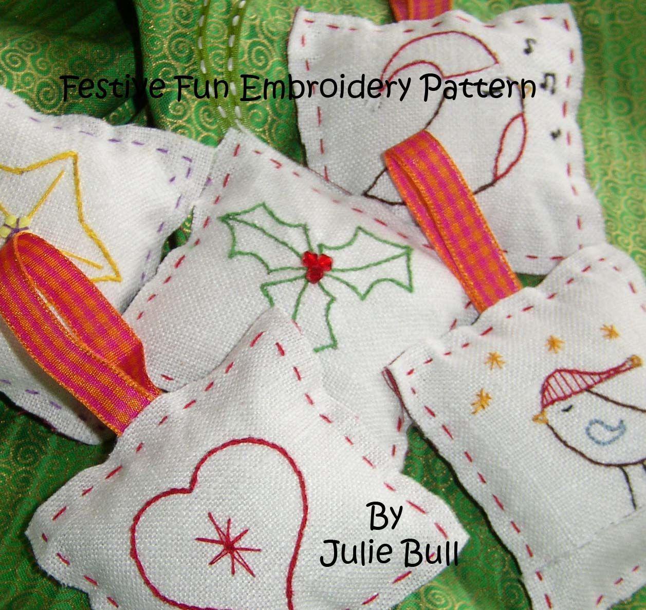 Festive Fun Hand Embroidery Pattern