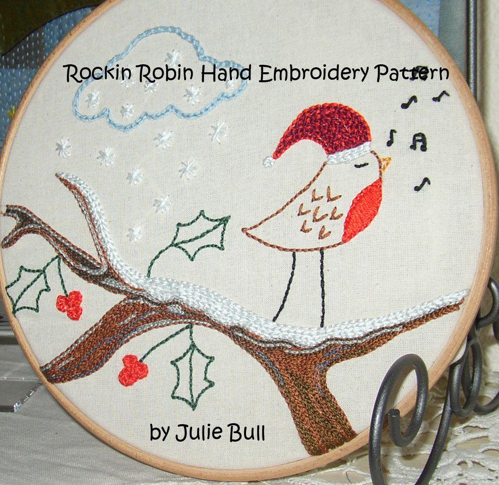 Rockin Robin Hand Embroidery Pattern