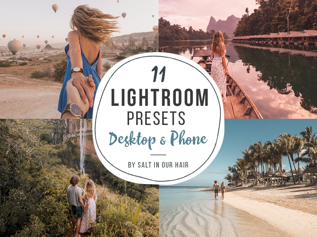 11 Lightroom Presets - Phone & Desktop - Salt in our Hair - Instagram
