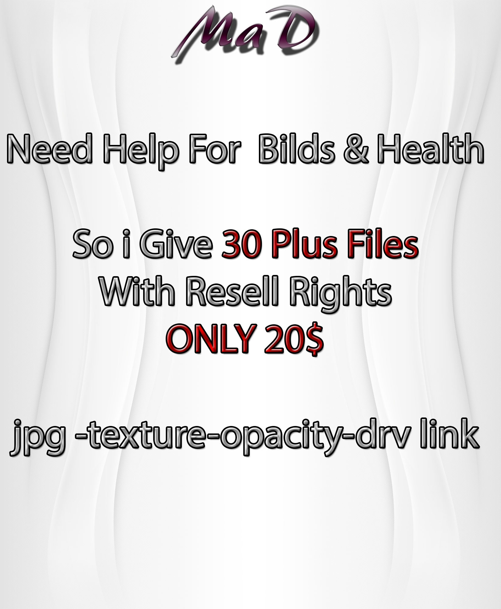 MaD MeGa OFFER 30 + FILES ONLY 20$ WITH RESELL RIGHTS
