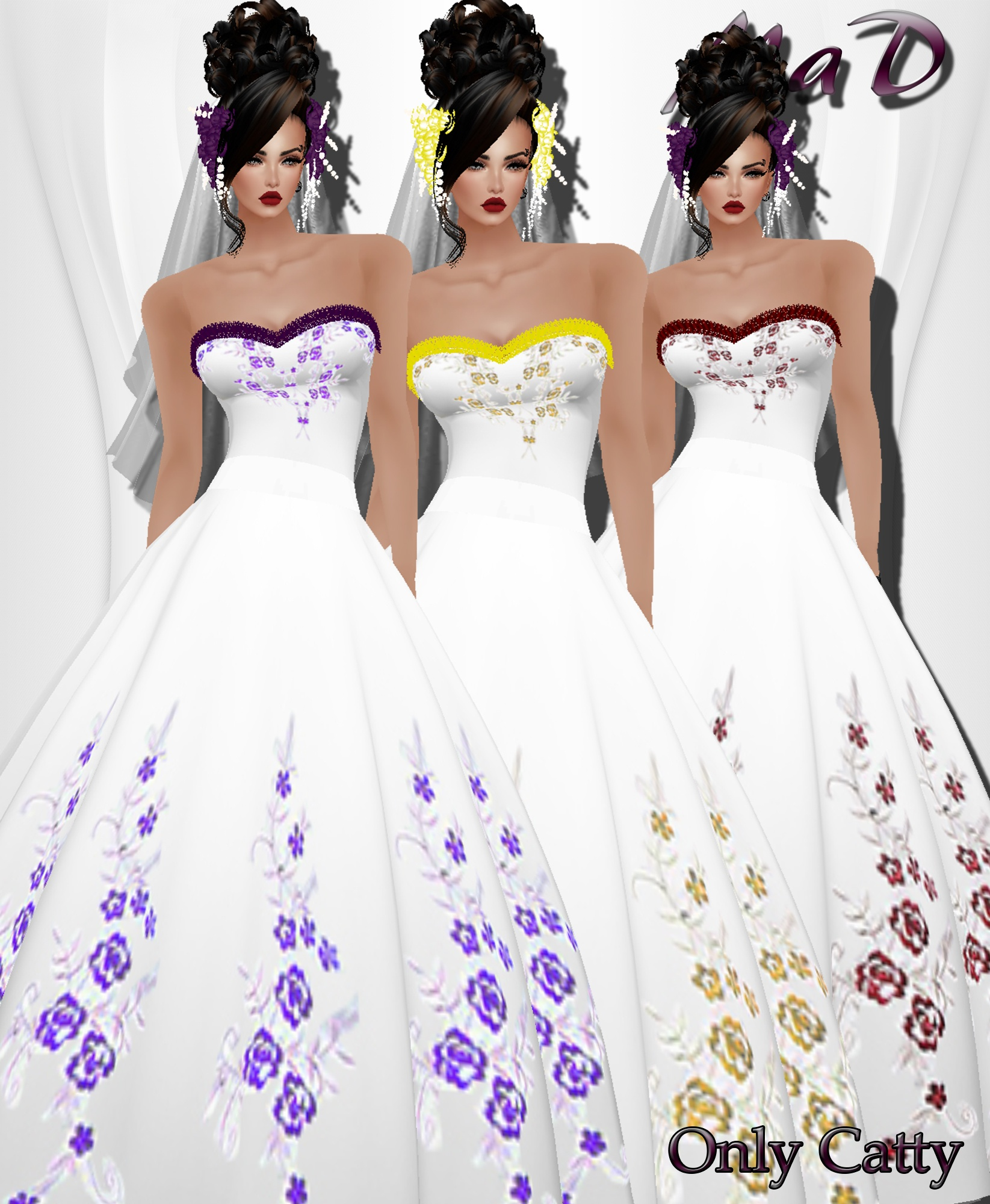 MaD Wedding Flower 3 Collors ONLY CATTY