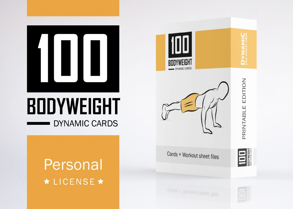 100 Bodyweight Cards /  PDF