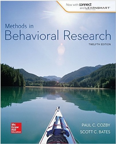 Methods in Behavioral Research 12th Edition by Paul Cozby ( PDF )