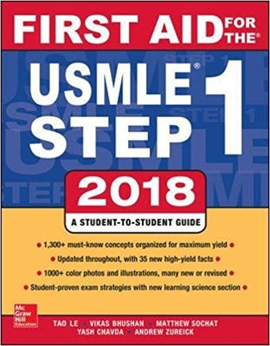 First Aid for the USMLE Step 1 2018, 28th Edition ( PDF , Instant download )