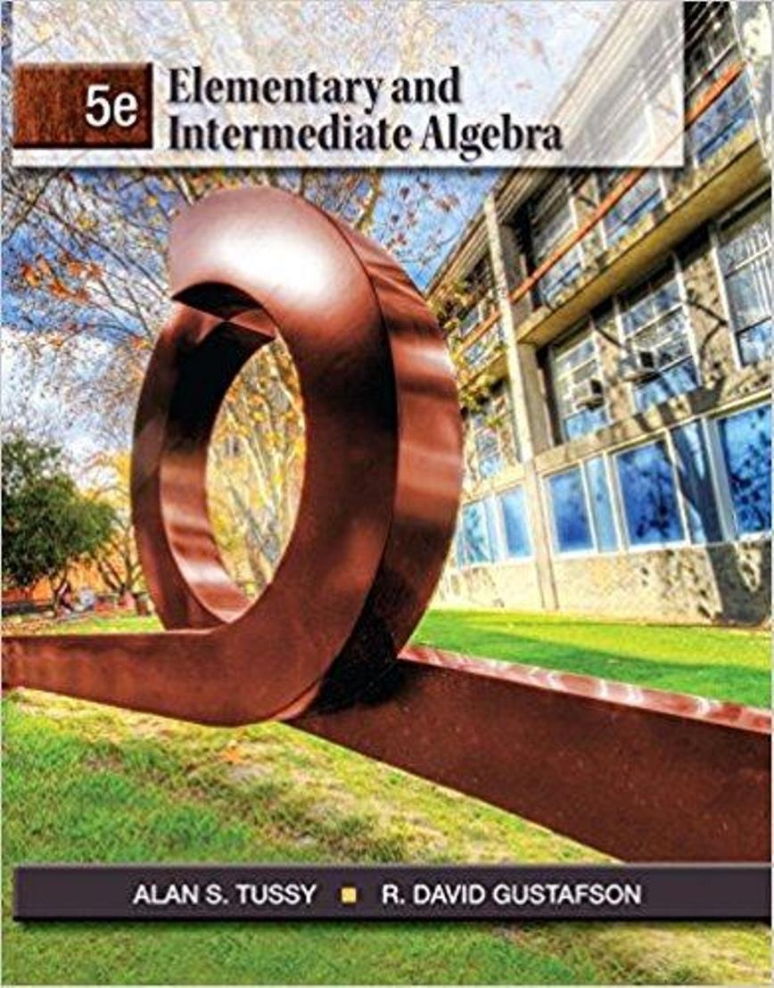 Elementary and Intermediate Algebra 5th Edition ( PDF , Instant download )