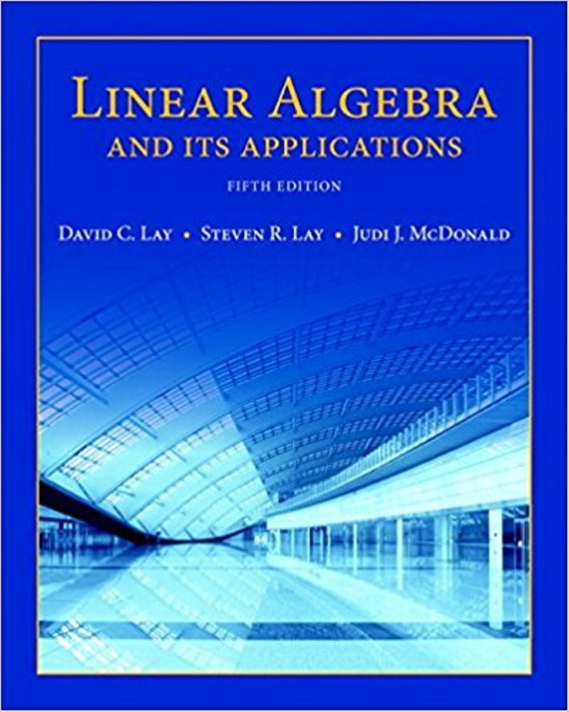 Linear Algebra and Its Applications 5th Edition ( PDF , Instant download )