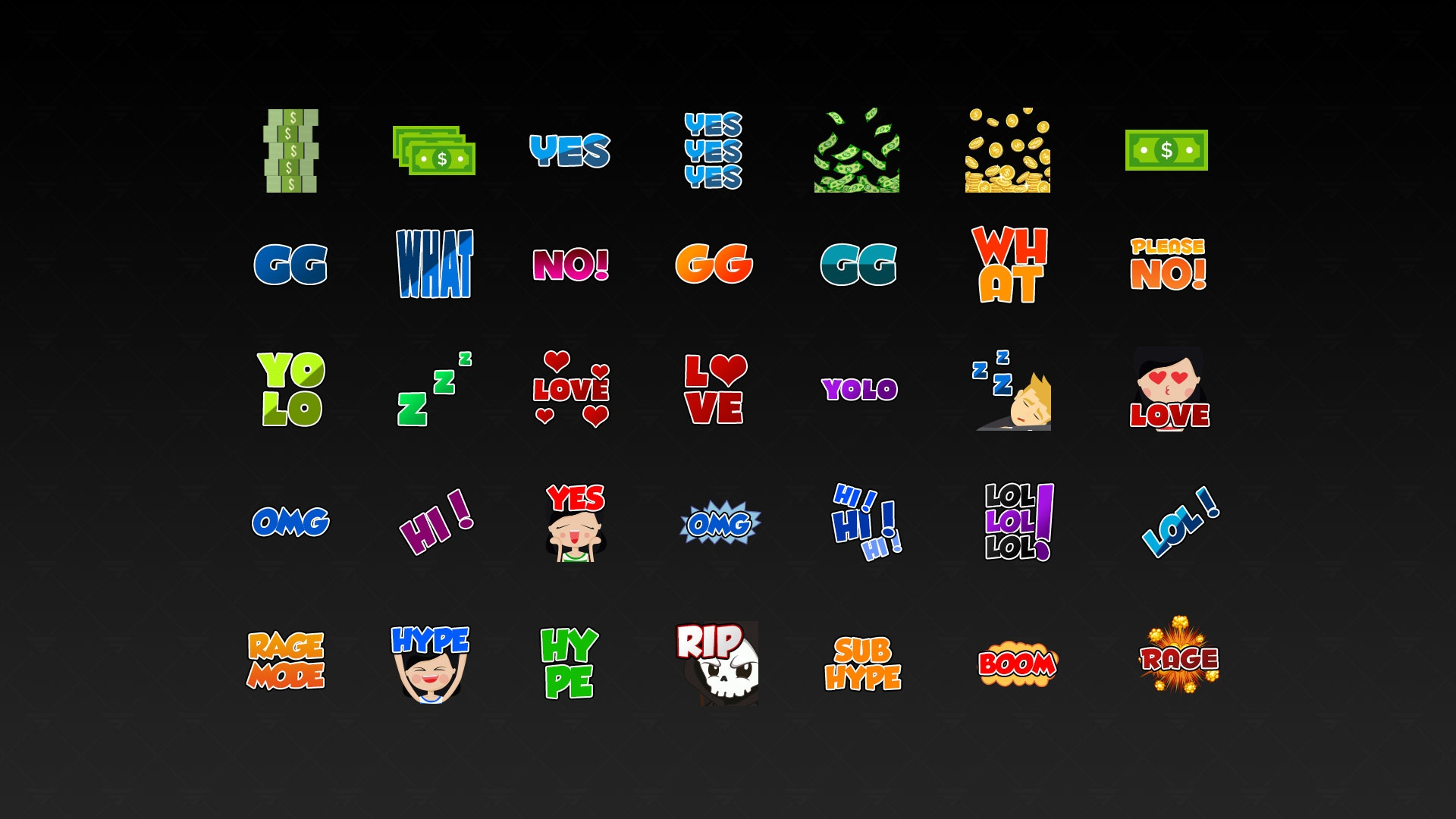 35 Different Twitch Emotes | PSD