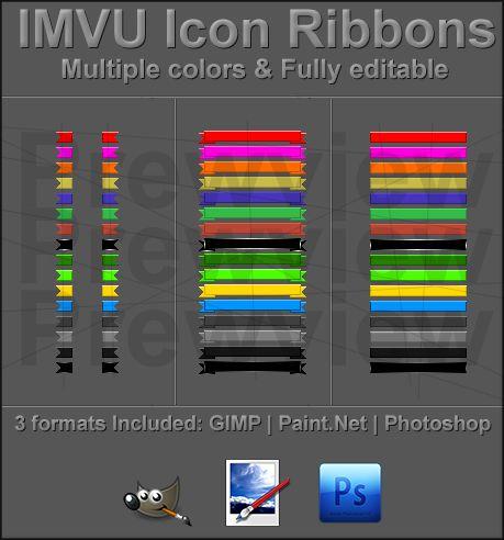 IMVU Icon Ribbons
