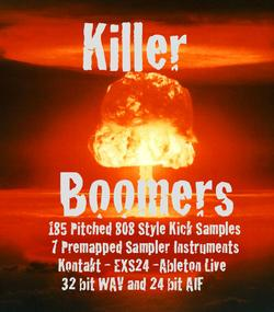 Killer Boomers 808 Kick Pack
