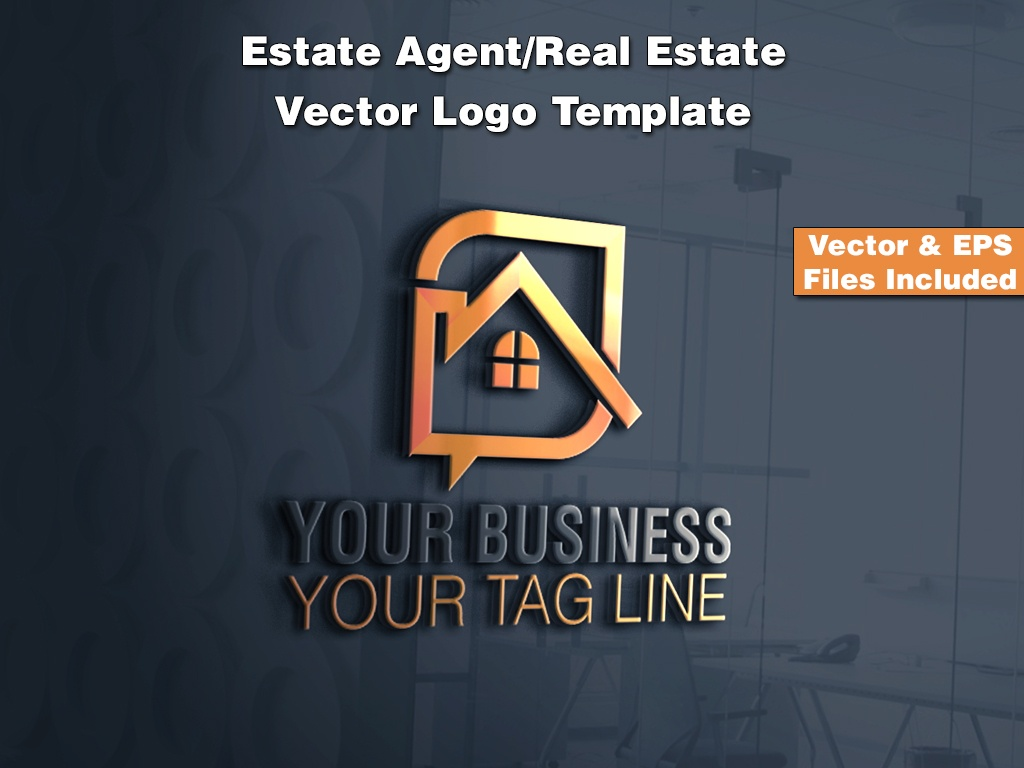 Estate Agent/Real Estate Vector Logo Template 2