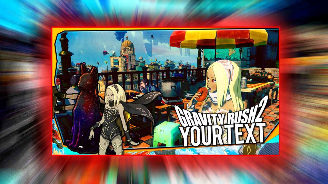 Gravity Rush 2 Thumbnail Template - PSD