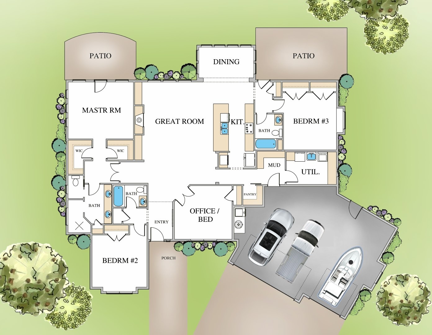 The Hampton Plan - Color Layout